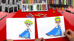 how to draw cinderella art for kids hub