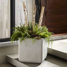 outdoor planters crate and barrel
