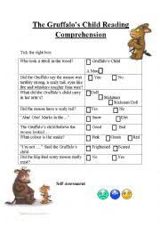 english worksheets gruffalo worksheets page 4