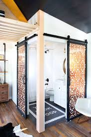 rustic modern barn style door track system bathrooms design for bathroom rustic