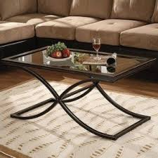 Metal Glass Coffee Table Metal And Glass Coffee Table Foter