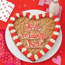 mrs fields cookie cakes mrs fields heart shaped personalized cookie cake