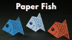 kids craft ideas origami paper fishes for kids simple and easy