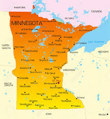 State Fair Mn Map 4420437 Vector Color Map Of Minnesota State Usa Stock Vector Jpg