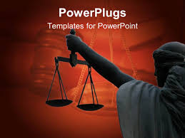 ppt templates for justice powerpoint template legal theme with scales of justice atop of