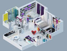 Studio Apartment Floor Plan Design 3d Studio Apartment Floor Plans Apartment Designs Shown With
