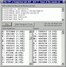keyboard layout letter frequency letter frequency counter