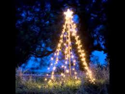 Homemade Outdoor Christmas Tree Decorations by Outdoor Christmas Tree Lights Decorations Youtube