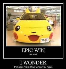 Funny Pikachu Memes - pikachu car