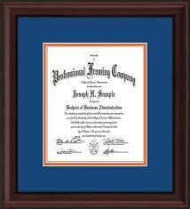 document frame custom mahogany bead document certificate frame royal blue on