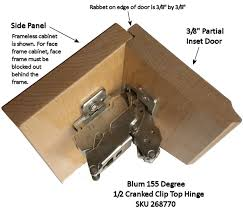 Flush Cabinet Door Hinges by Blum 155 Degree Hinge For 3 8 Inch Partial Inset Cabinets