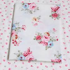 Doll Crib Bedding 100 Cotton Pastoral Poeny Printed Floral Twill Fabric For Diy Kid