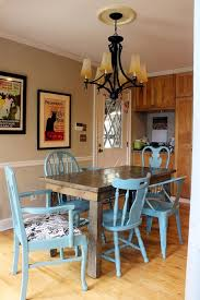 kitchen chair ideas painting and re upholstering our mismatched kitchen chairs at