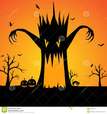 halloween free vector background halloween scary tree silhouette background stock vector image