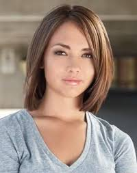 hair style angled toward face angled bob haircuts for round faces hair pinterest angled