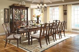 Vintage Dining Room Table Dining Room Table With 10 Chairs 17618