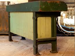 Kitchen Island Or Table by Kitchen Island Or Potting Table With Zinc Top And Iron Feet Circa