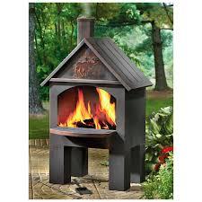 castlecreek cabin cooking steel chiminea chiminea cabin and patios