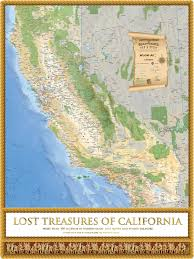 Large World Map Poster by Lost Treasures Of California Map And Guide