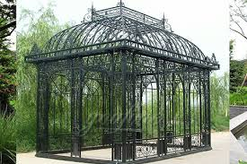 Wrought Iron Pergola by Garden Wrought Iron Pavilion Metal Gazebos Outdoor Hand Carved