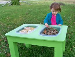 how to build a sensory table raising a low media the sensory table to the rescue