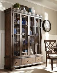 curio cabinet dining room curio chocolate cherry cabinet by