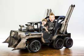 mom dad and baby costumes for halloween inventive parents create a u0027mad max fury road u0027 war rig for their
