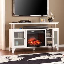 Infrared Quartz Fireplace by Shop Boston Loft Furnishings 60 In W White Mdf Infrared Quartz