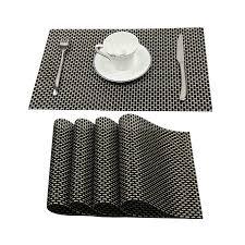 large plastic table mats karateemy pvc placemats set of 4 woven vinyl heat insulation