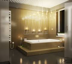 decorating bathroom backsplash ideas showing a modern and luxury creative bathroom lighting