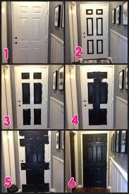 front doors hallway makeover part 2 black doors inside front