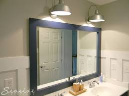 How To Put A Frame Around A Bathroom Mirror by Seaside Interiors July 2013