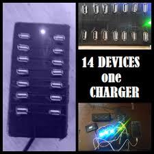 14x usb charging hub 5 steps