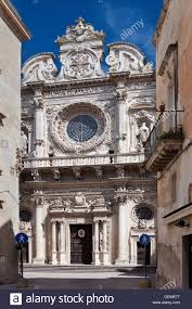 facade of church of santa croce exuberant baroque ornamentation