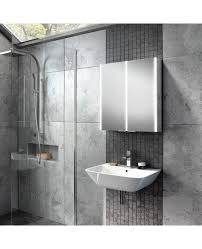 hib xenon 60 bathroom modern led illuminated mirror cabinet