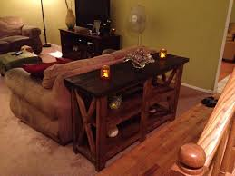 Rustic Wood Furniture Diy Rustic Wood Console Table Diy The Beauty Of Rustic Console Table