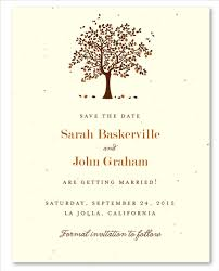 wedding save the date cards on plantable paper apple tree by