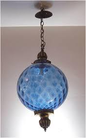 Globe Light Fixtures Vintage Hanging Light Fixture Swag L Chain Cord Mid Century