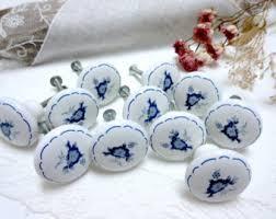 White Porcelain Cabinet Knobs Vintage Drawer Knobs Etsy