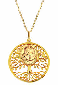 necklace silver gold images Tree of life quot pendant with madonna and child icon silver 925 jpg
