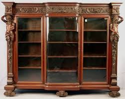 antique bookcase glass doors perfect antique bookshelves for sale inspirations interior