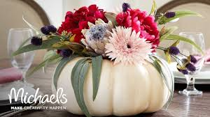 get ready for fall with this floral pumpkin michaels youtube