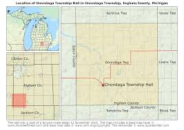 Michigan Township Map by Onondaga Township Ingham County Michigan The Spokesrider