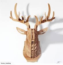 wooden stag wall stag woodcraft construction kit 3d mdf model trade me
