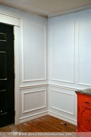 How To Install Picture Frame Moulding The Easiest Wainscoting - Moulding designs for walls