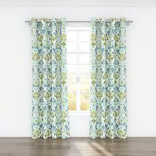 Sheer Grommet Curtains Belle Maison Sasha Nature Floral Semi Sheer Grommet Curtain Panels