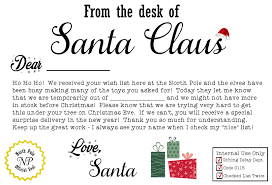 letters from santa claus free santa claus christmas present iou printable letter cheaps