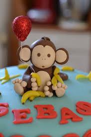 monkey cake topper monkey birthday cake monkey and balloon made from fondant