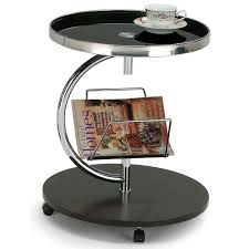 round coffee table with casters modern round side table with casters and magazine holder aprilia