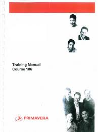 primavera p6 training manual course 106